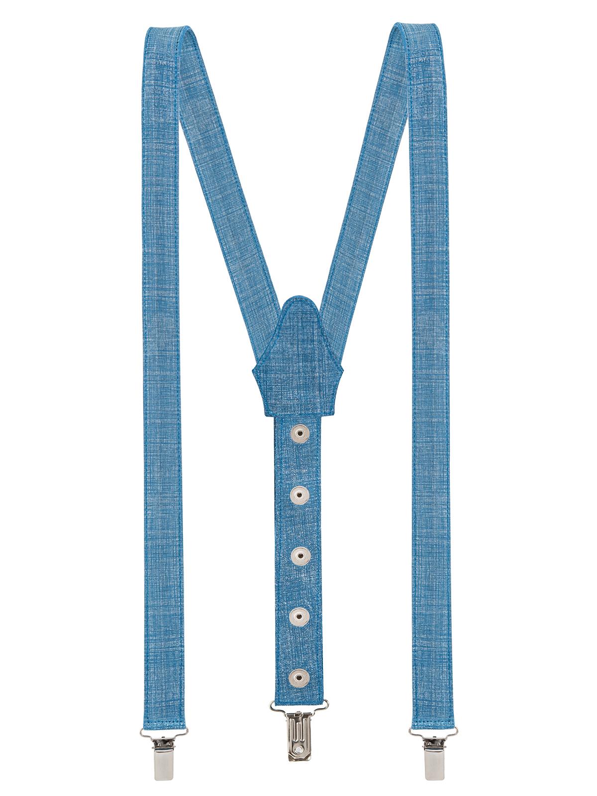 Suede Button Suspenders