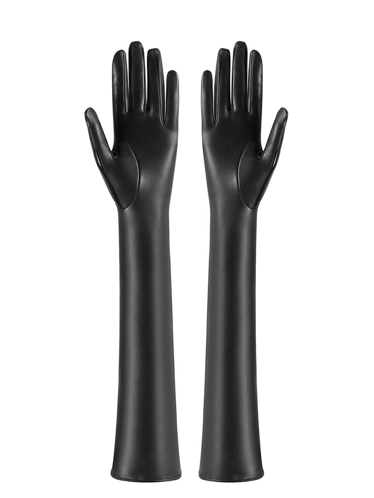 Patent leather driving gloves - Long Black Patent Leather Gloves Long Black Patent Leather Gloves